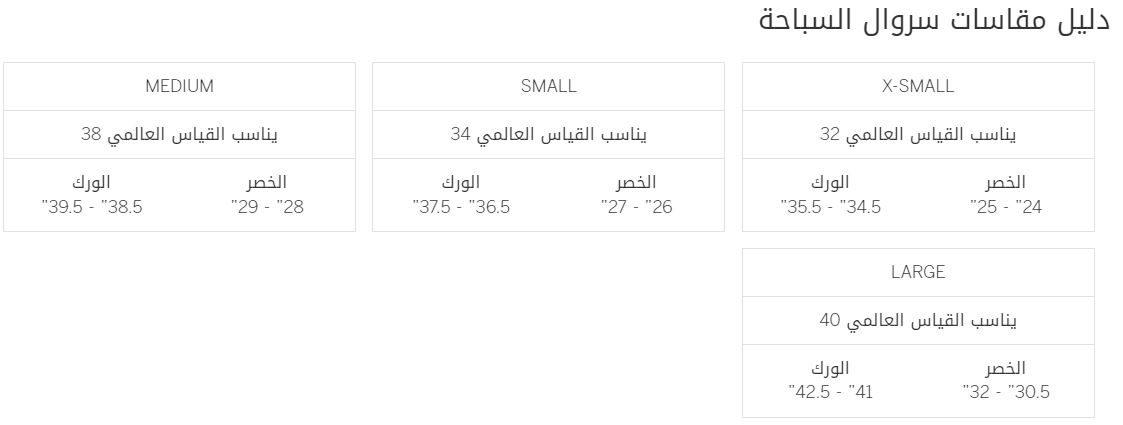 دليل قياسات victoriassecret pink علي سراويل السباحة بالانش